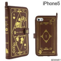 Disney Character Old Book Case for iPhone 5 (Alice in Wonderland)