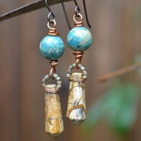 Imperial and Picture Jasper Earrings