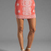 renzo + kai Lola-Lola Silk Skirt in Coral/White from REVOLVEclothing.com