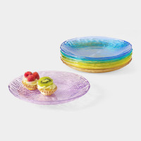 Multicolor Glass Plate Set