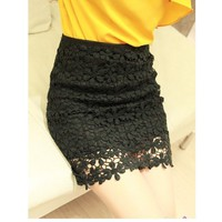 topfashion — Retro Flower High Waisted Lace Skirt Short skirts