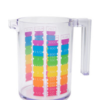 ZAK! DESIGNS N/A Rainbow 4-Cup Measuring Cup
