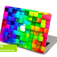 Bump Rainbow Decal for Macbook Pro, Air or Ipad Stickers Macbook Decals Apple Decal for Macbook Pro / Macbook Air