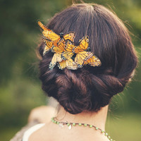 butterfly comb, bridal hair piece, whimsical wedding accessory, bridal head piece, woodland wedding - COCOON