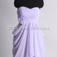 Charming 2013 Amazing A-line empire waist chiffon dress for bridesmaid Prom Evening Dresses Party Dresses
