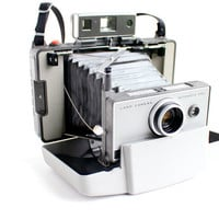 Vintage Polaroid Automatic 230 Land Camera With Hard Case - 1960s Instant Fold Up Accordion Photography / Retro Home Decor