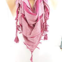 New- Gift- Deep Pink Fuchsia Triangle  Shawl Scarf