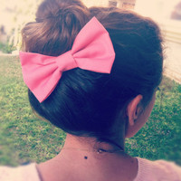 BIG Light pink hair bow (S-N-007)
