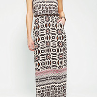 Angie Strapless Keyhole Maxi Dress