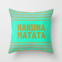 Hakuna Matata Throw Pillow by M Studio