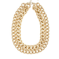 Double Gold Chain Necklace - Furor Moda - Tops - Dresses - Jackets - Vintage