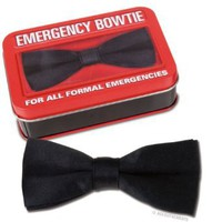 Emergency Silk Like Bowtie with Metal Attachment New: Toys & Games