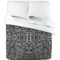 DENY Designs Home Accessories | Jacqueline Maldonado Radiate Black White Duvet Cover
