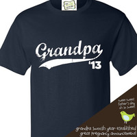 grandpa established t-shirt great for grandpa to be or surprise pregnancy announcement