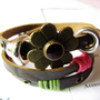 3 Circles Copper Flower With Metal Snapper women by braceletcool
