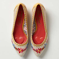 Anthropologie - Posy-Stitched Skimmers