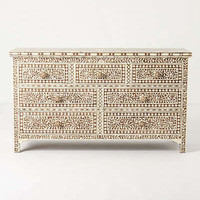 Anthropologie - Ivory Etched Dresser