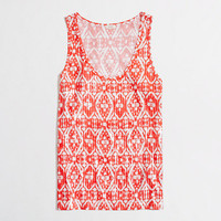 Factory ikat sequin tank