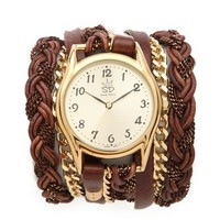 Sara Designs Leather Braid Chain Wrap Watch | SHOPBOP Save 20% with Code WEAREFAMILY13