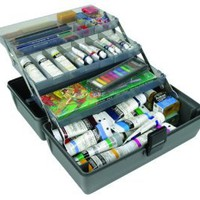 Amazon.com: ArtBin Upscale Tool Box with Metal Links, Slate Grey, 3-Tray: Arts, Crafts & Sewing
