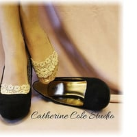Lace socks for heels BEIGE  lace great for by CatherineColeStudio
