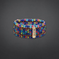 Beaded Stretch Cuff Bracelet
