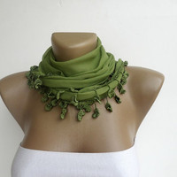 New green girly scarf , fashion accessory , headband , headwrap , hair bandana