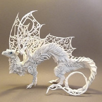 CUSTOM ORDER White Dragon