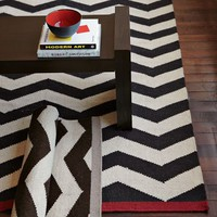 Zigzag Wool Rug - Iron