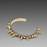 HOUSE OF HARLOW Spike and Cone Cuff in Gold