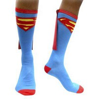 Superman Men's Caped Socks