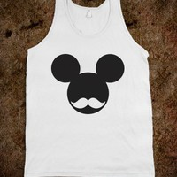 Mickey Moustache (Tank) - The Good Life - Skreened T-shirts, Organic Shirts, Hoodies, Kids Tees, Baby One-Pieces and Tote Bags