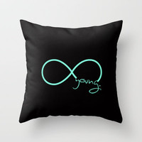 Forever Young Tiffany Black Throw Pillow by RexLambo