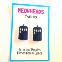 TARDIS // Doctor Who earrings