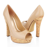 Peep-Toe Cork Pumps | FOREVER 21 - 2000045661