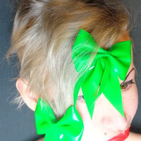 Hair Bow Clip Barrette Latex