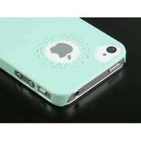 Pandamimi Dexule Cute Girls Ultra-thin Ice Cream Glossy Hard Case Cover for iPhone 4, 4S - Mint Green: Cell Phones & Accessories