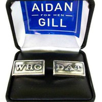 WHO-DAT Cufflinks- Aidan Gill for Men
