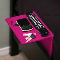 Urban Shelf (White, Black, Pink, Blue) - Folding bedside shelf for your iPhone, Droid, &amp; Other Gear. Doubles as a iPad/tablet stand