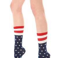 Free People Sock American Stars in Navy