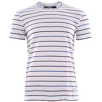 Adidas Originals Stripe Tee 1 T-Shirt - White/dark Indigo at Urban Industry