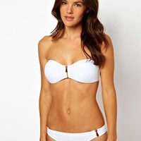 River Island Dakota Zip Bikini at asos.com