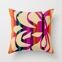 Flourishing Throw Pillow by Saki