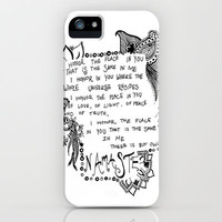 Namaste Doodle iPhone Case by Kayla Gordon