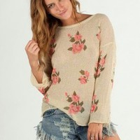 Torn N Thorn Rose Knit