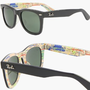 RAY BAN WAYFARER RARE PRINTS NYC METRO Sunglasses - RB2140 1028 (50mm): Clothing