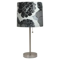 Room Essentials® Stick Lamp with Black Flower Print