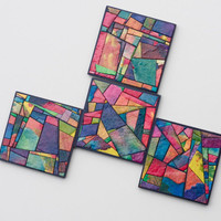 Handmade Paper Stained Glass Coasters by calyrew on Etsy