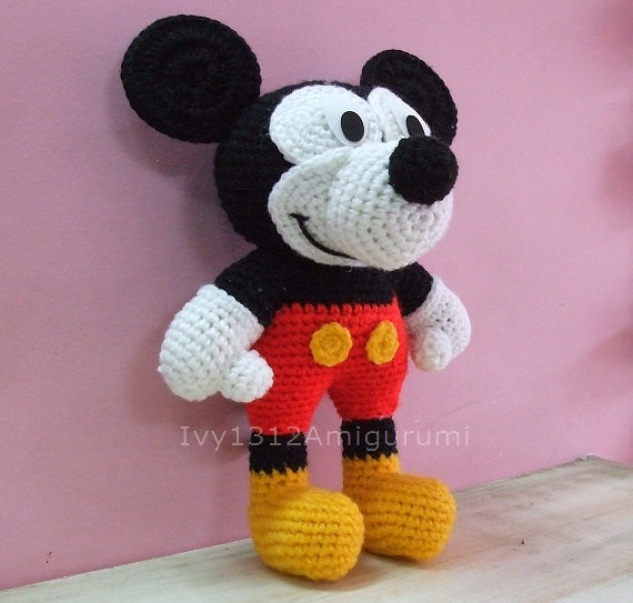 Baby Mickey Amigurumi Pattern : Mickey Mouse - Big Handmade Amigurumi from ...