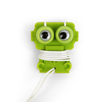 Kikkerland Design Inc   » Products  » Robo Buddy Ear Buds And Cord Wrap + Green